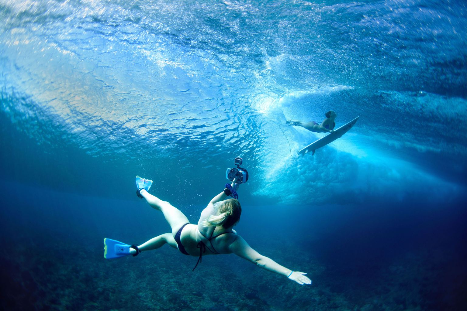Photos de surf : sous l'eau