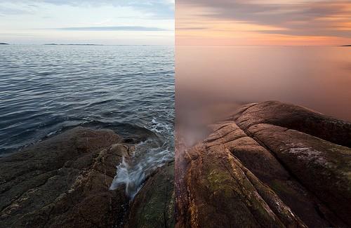 Comparatif avant - après avec le filtre ND