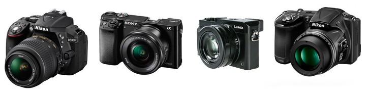 Types d'appareils photo numériques