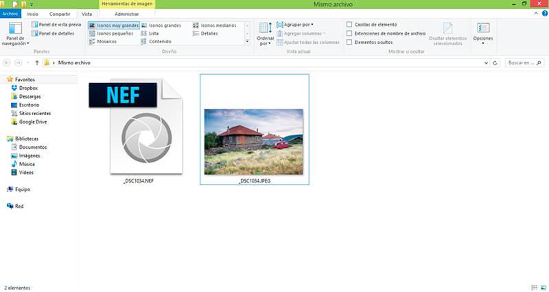 """Option """"RAW+JPEG"""" de l'appareil photo pour disposer des deux types de fichiers"""