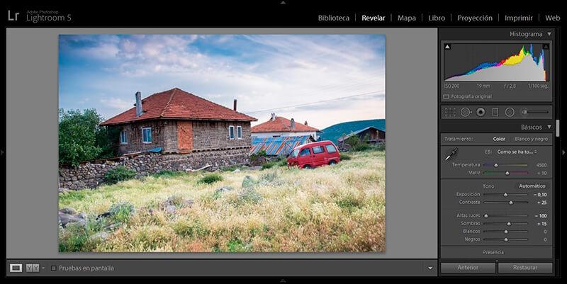 Possibilité de traitement d'une photo au format RAW
