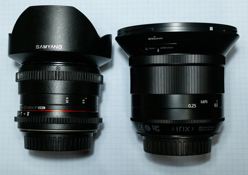 Test comparatif Irix 15 mm Samyang 14 mm