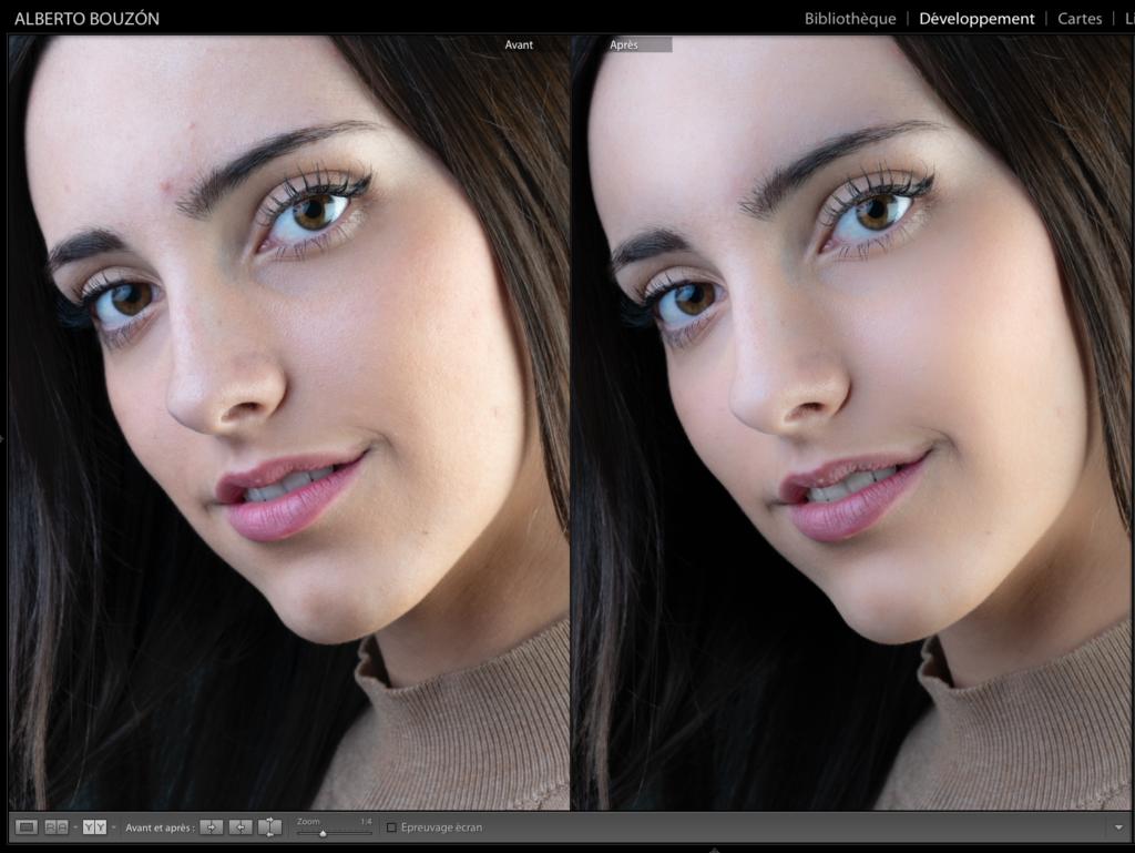 Comparatif avant/après la retouche de portraits