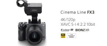 Sony FX3 : la caméra la plus compacte et légère pour le cinéma